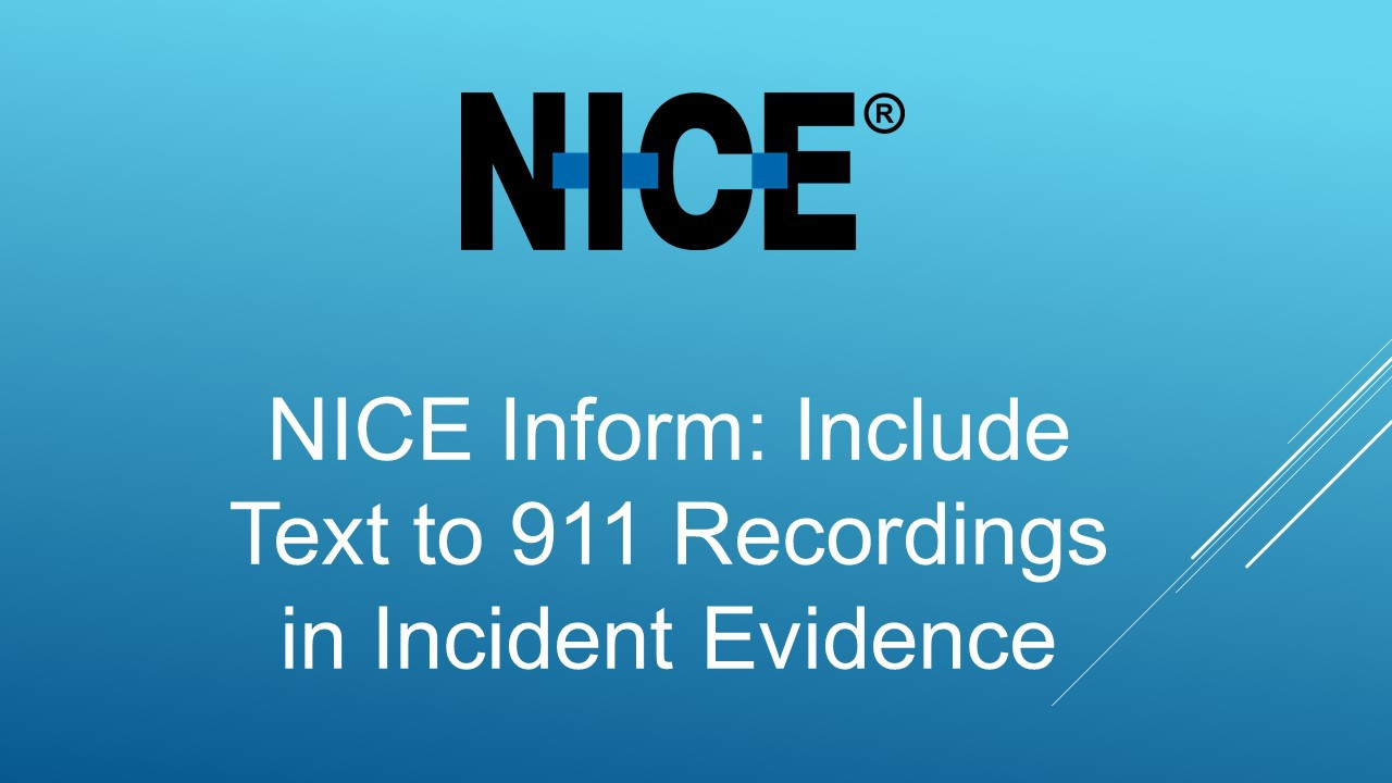 recordings in incident evidence